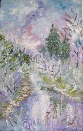 Spring Painting. Silver Spring. Spring River, Spring