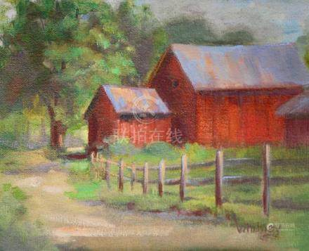 Barn Painting, Oil Painting, Original painting,