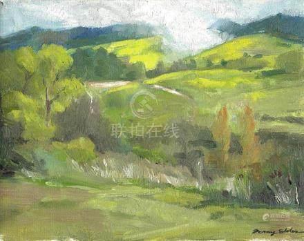 Hillside in Spring, Original Artwork, Plein Air