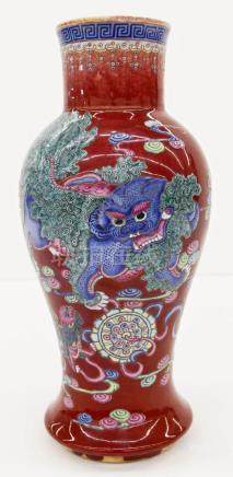Chinese Decorated Langyao Crackle Glaze Porcelain Vase