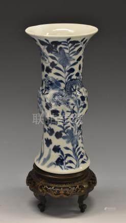A 19th century Chinese porcelain gu-shaped beaker vase,