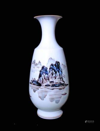 A FAMILLE ROSE VASE, SONGMAO ZHANG