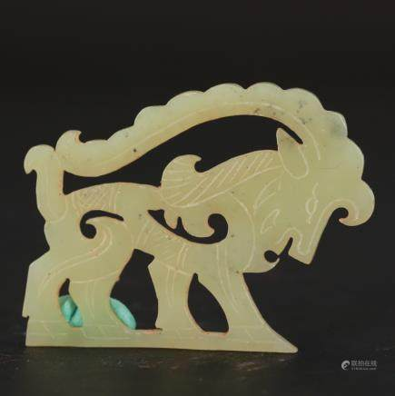 CHINESE JADE CARVING OF SHEEP
