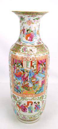 An early 20th century Chinese Canton Famille Rose vase,
