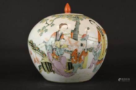 Chinese Wucai Glaze Porcelain Ginger Jar