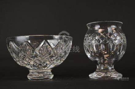 Two Waterford Crystal Vases/Bowl