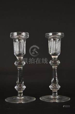 Pair of Waterford Crystal Candleholders