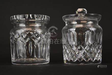 Two Waterford Crystal Jars