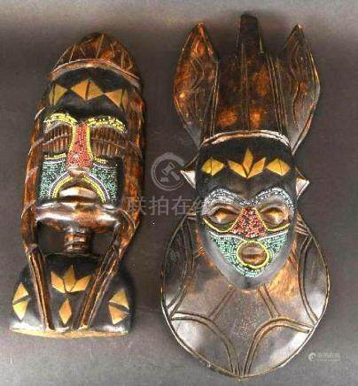 Two Wood Masks