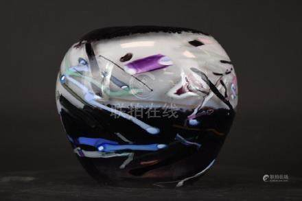 Signed Art Glass Bowl