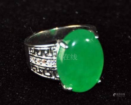 A translucent men jadeite ring