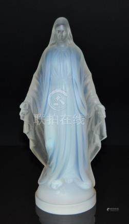 A French Sabino glass Madonna figure