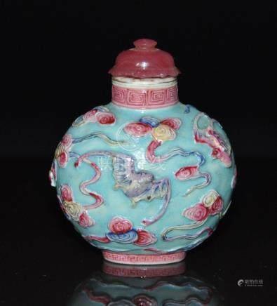 A Qing Dynasty QianLong Enamel Porcelain snuff  bottle