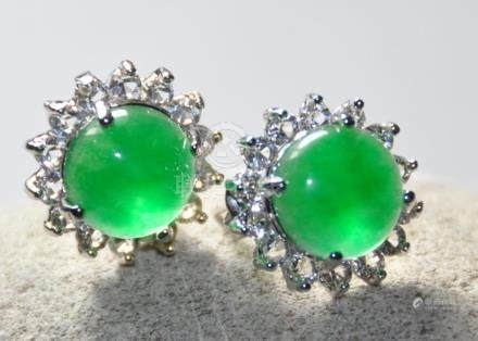 A translucent jadeite Earrings