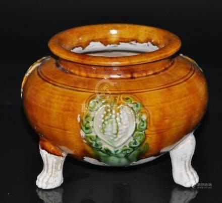 A Tong style Sancai  incense burner