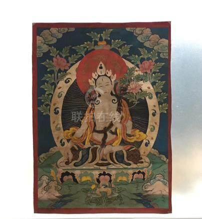 A BUDDHA PAINTING TANGKA