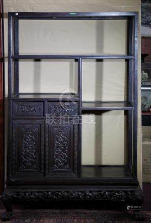 Qing Dynasty Carved Rosewood Cabinet