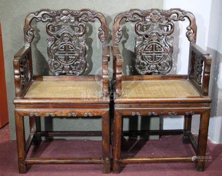 Pair of Hard Wood Chairs