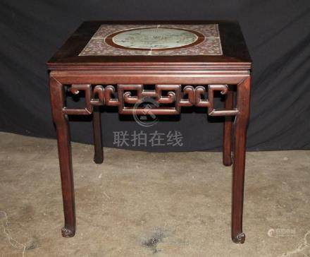 Rosewood Square Table W/ Porcelain Top