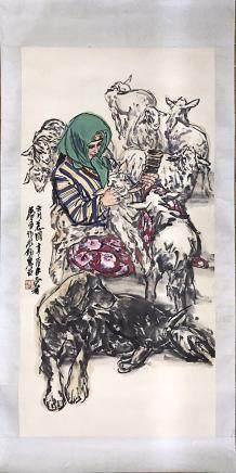HUANGZHOU <WOMEN FEEDS SHEEP>