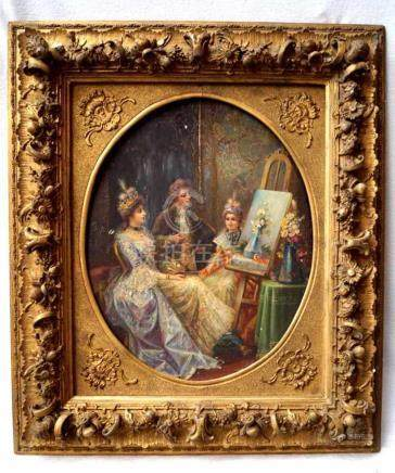 DORIS, L.DECODED:PRINCELY PAINTING LESSON, LATE 19TH CENTURY