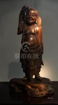 Antique Chen Xiang Liu Hai Frog Statue