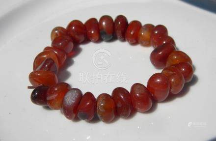 Antique Carnelian Beads Bracelet