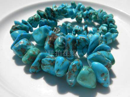 Antique Turquoise Beads Necklace