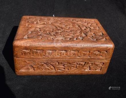 Antique Carved Sandel Wood Box