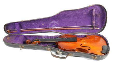 Antique 1920s Violin, Bausch Bow