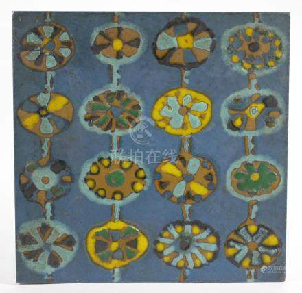 1970s Ceramic MCM Art Tile Franciscan