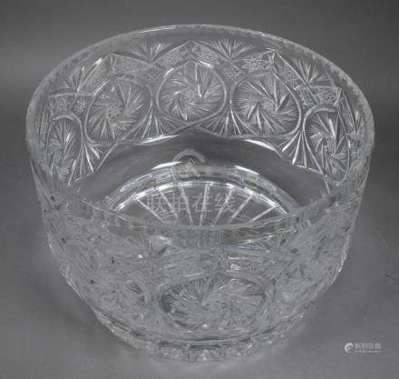 Large Cut Crystal Footed Centerbowl