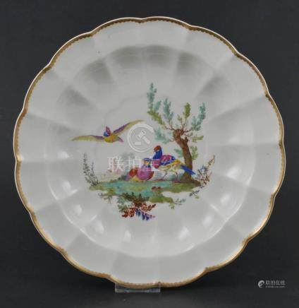 18C Chinese Export Bowl Handpainted Birds
