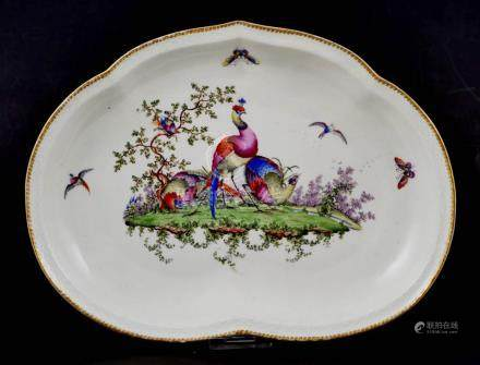 18C Chinese Export Plate Handpainted Birds