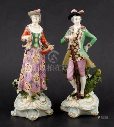 1780s Chelsea Porcelain English Figurines