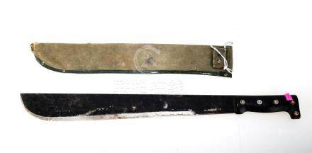 A MACHETE WITH CLOTH CASE.J076.