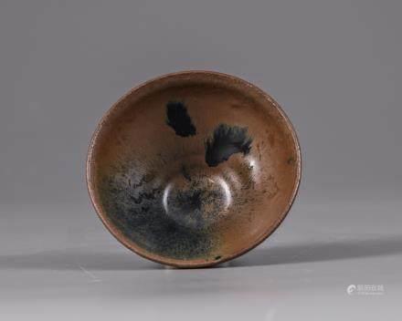 A Jianyao hare's fur tea bowl