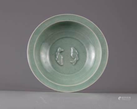 A twin carp celadon bowl