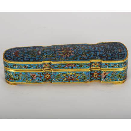 CHINESE CLOISONNE SCHOLAR COVER BOX
