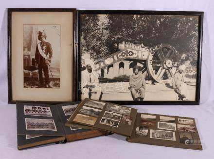 Group of items from Colonial India to include a photograph of the Maharajah of Benares dated 1926,
