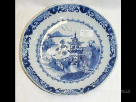 An 18th century Chinese Nanking ceramic plate - 27