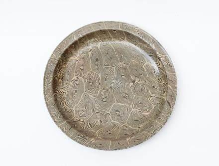 A Chinese Cizhou Marbled Porcelain Dish宋代-磁州當陽山谷窯絞胎盤