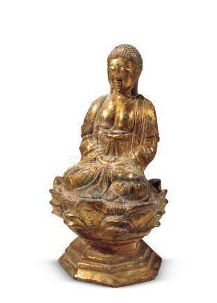 辽 铜鎏金释迦牟尼坐像