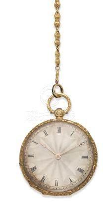Breguet & Fils. An 18K gold key wind open face pocket watch Circa 1850