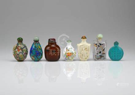 GROUP OF SEVEN CHINESE SNUFF BOTTLES