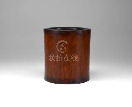 CHINESE HUALI ROSEWOOD BRUSHPOT