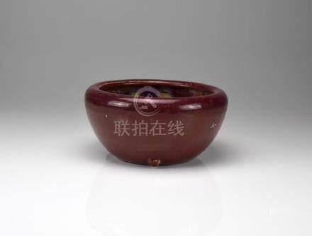 CHINESE FLAMBE GLAZED POTTERY CENSER