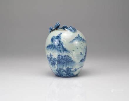 CHINESE BLUE & WHITE PORCELAIN JAR