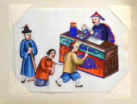 JAPANESE LACQUER PHOTO AND PITH PAINTING ALBUM