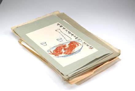 LARGE GROUP OF CHINESE ART COLOURED PUBLICATIONS